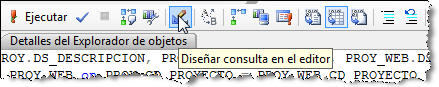 Microsoft SQL Server Mangement Studio - Diseñar consulta