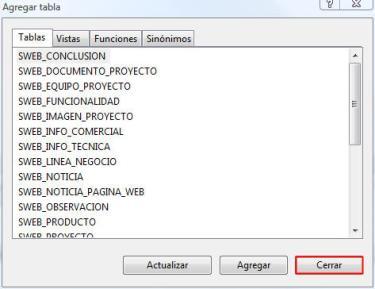 Microsoft SQL Server Mangement Studio - Agregar tabla